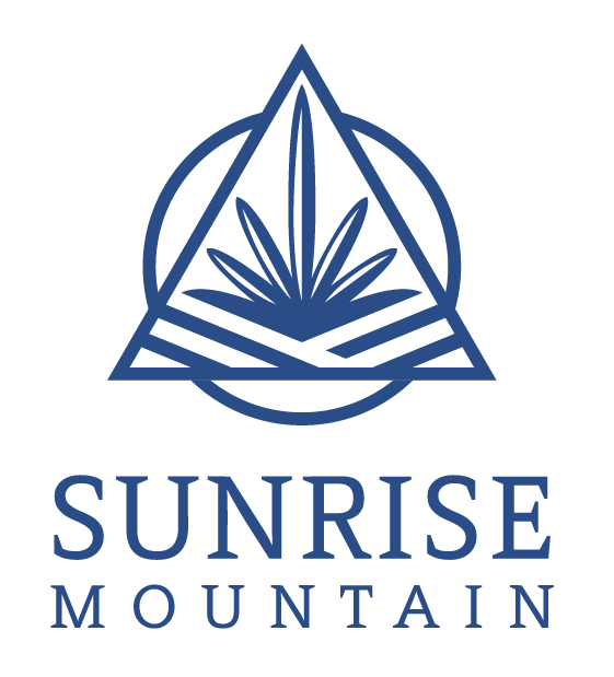 Sunrise Mountain Logo Blue